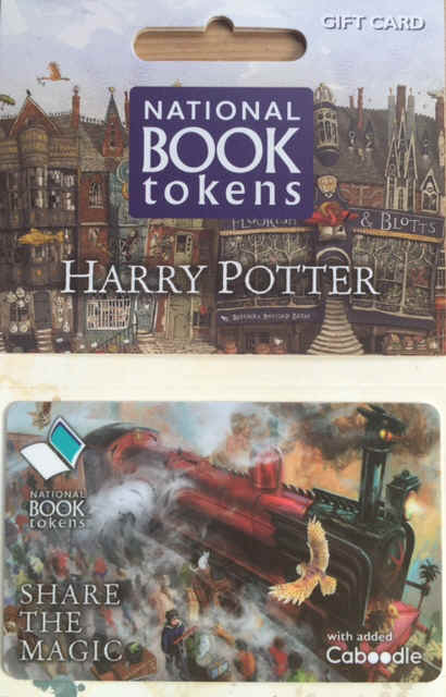 NEW NATIONAL BOOK TOKENS HARRY POTTER DESIGN